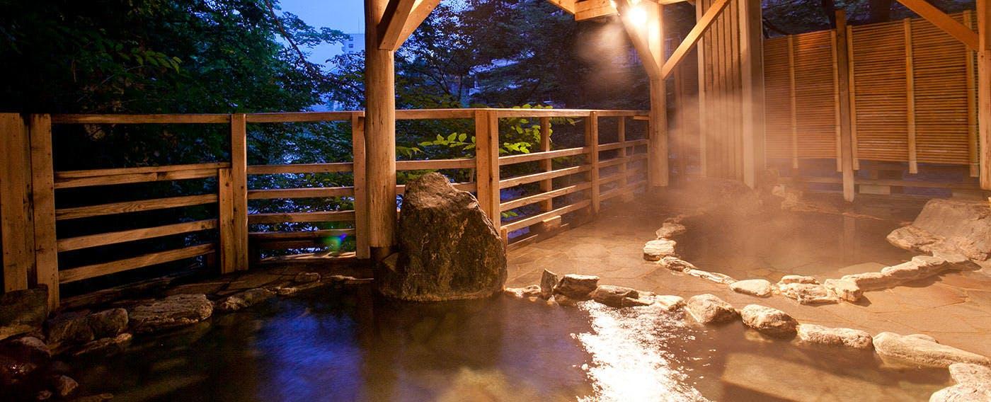 牧水の湯 露天風呂