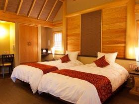 「離れ」神呂木の庄~月詠・万葉~<露天風呂付和洋室>100平米に及ぶ空間にプライベート庭の贅沢な造り