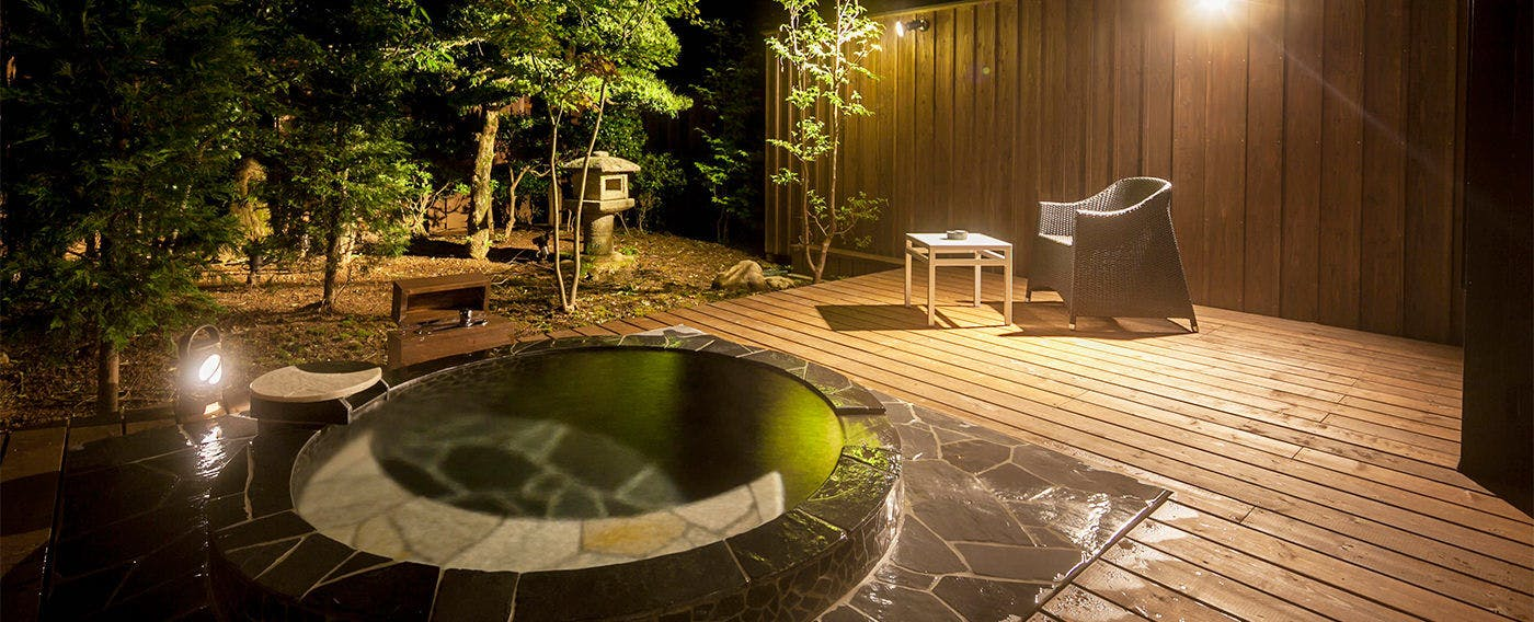 Private Open-Air Bath at Room 'Gekkyou'