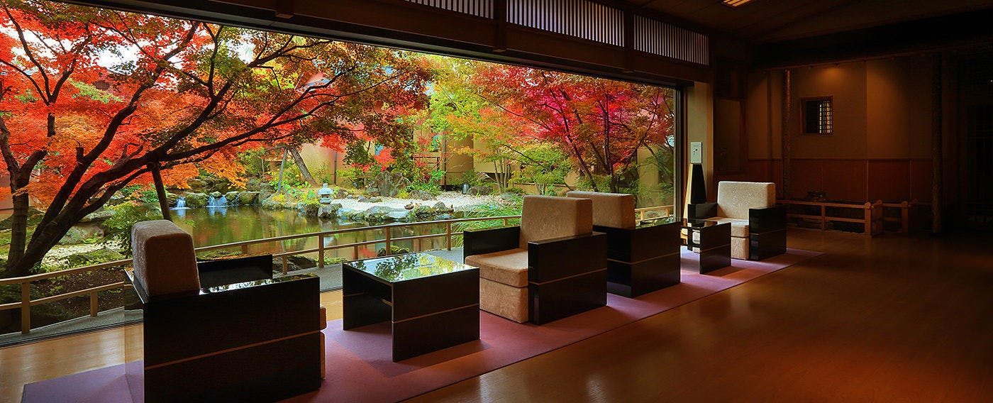 Beatiful Japanese Garden from Lobby