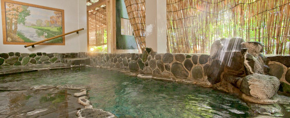 Large Public Hot Spring Bath with Modern Tile