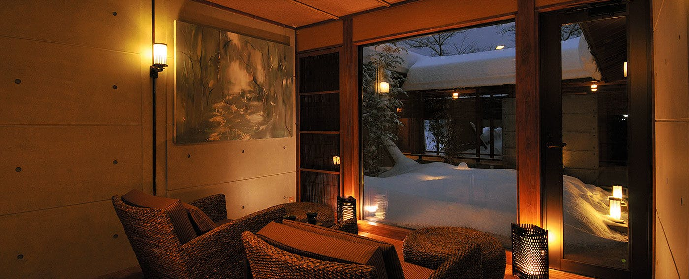 Lounge in winter