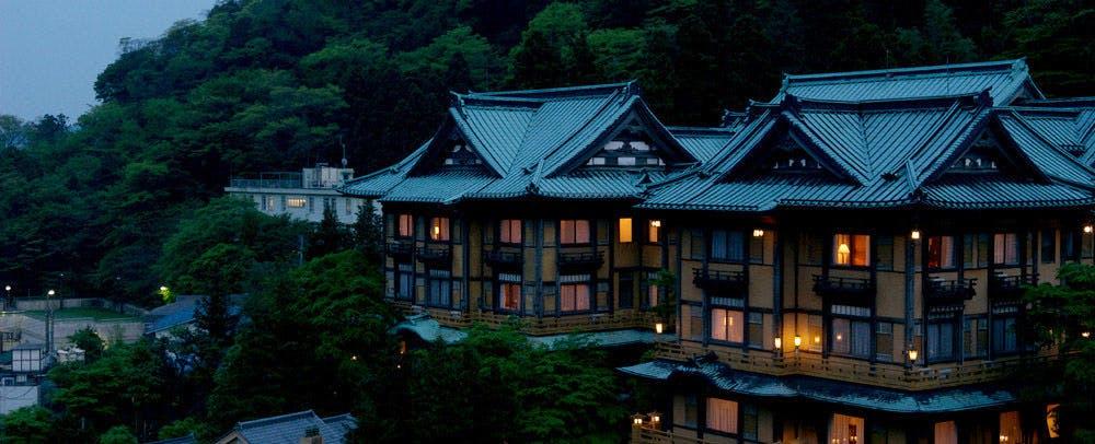 富士屋ホテル   外観夜景