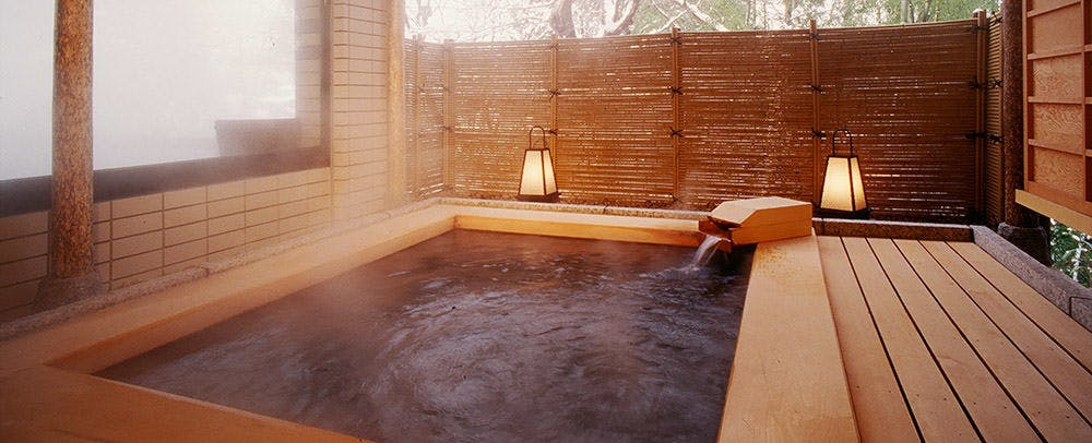 Private Open-Air Bath at Guestroom